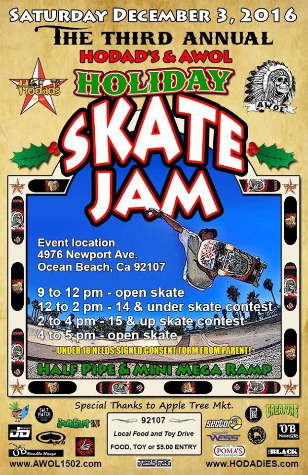 Hodads & AWOL / Ocean Beach Skate Jam