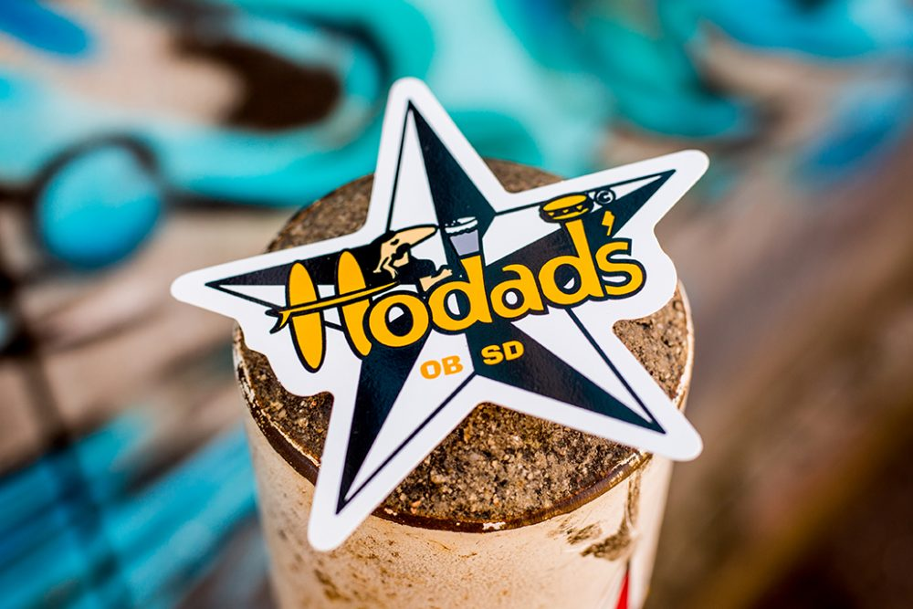 Hodads Sticker Black & Yellow Star