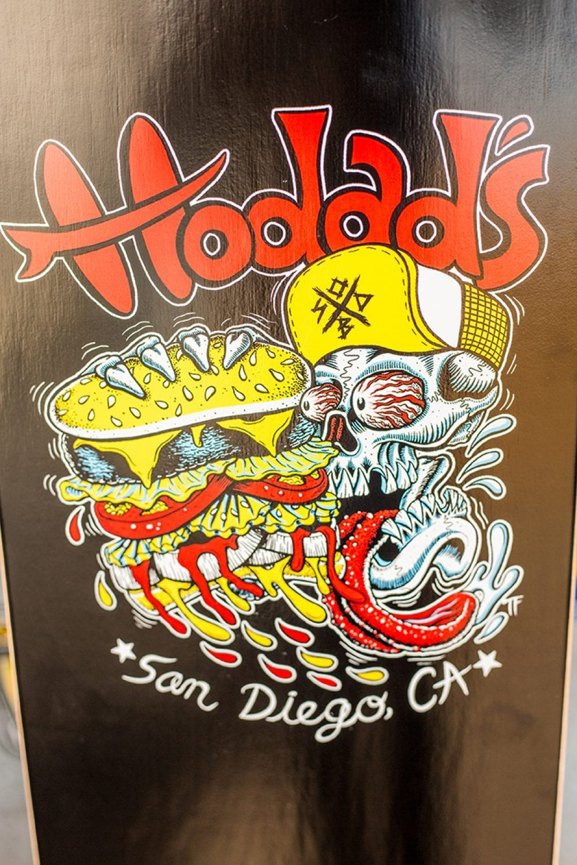 skateboard skatedeck hodads san diego Skull Burger