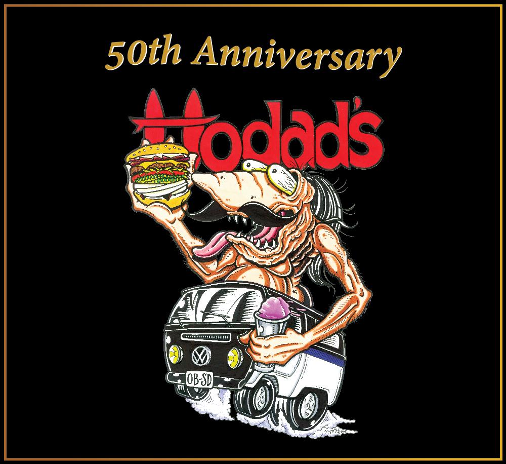 Hodads 50th Anniversary logo