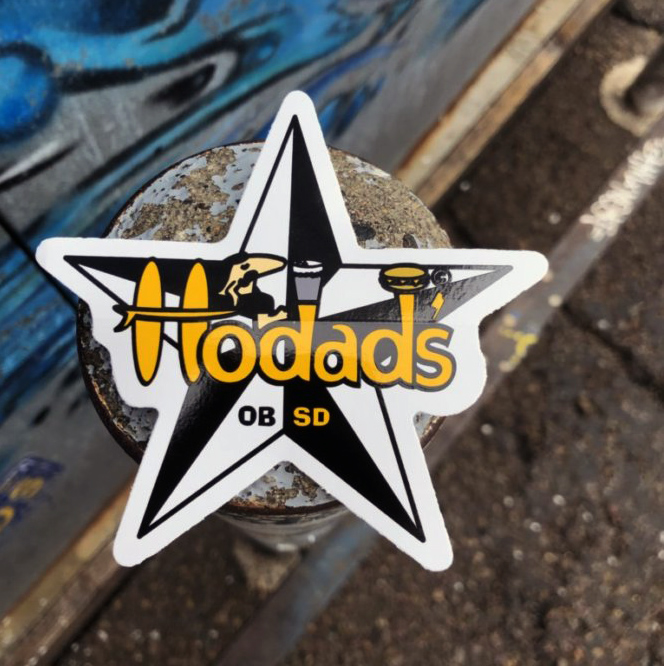 Hodads Sticker in Black & Yellow